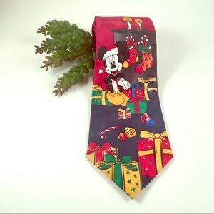 Mickey Mouse Disney Christmas holiday necktie